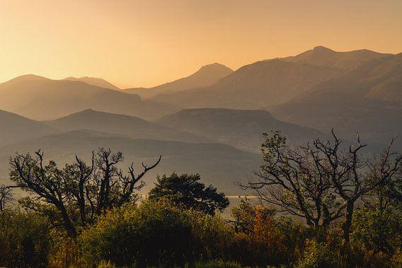 Berg silhouetten