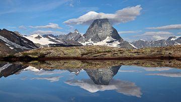 Matterhorn spiegeling - Wallis - Zwitserland van Felina Photography