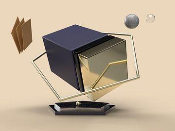 Zwevende kubus van shoott photography