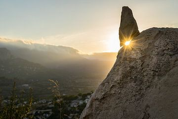 Gouden avondlicht in de bergen van Montepuro