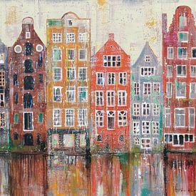 Amsterdam Damrak von Atelier Paint-Ing