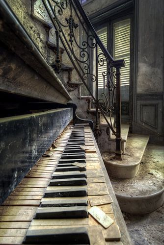 Piano Detail van Roman Robroek