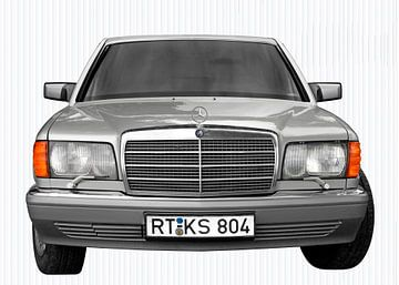 Mercedes-Benz S-Klasse W 126 front view in original color von aRi F. Huber