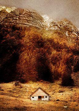 Zwitserland Seealpsee landschap schilderij #Zwitserland van JBJart Justyna Jaszke
