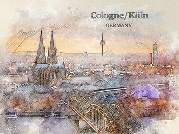 Köln Cologne von Printed Artings