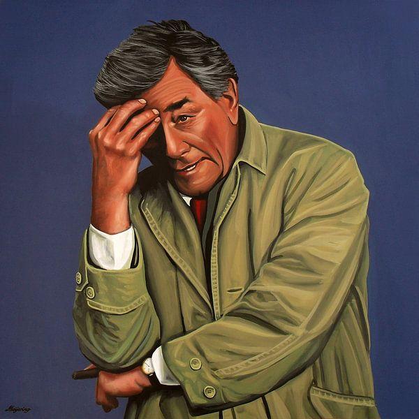 Peter Falk als Columbo schilderij