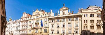Bâtiment Art Nouveau sur la place de la vieille ville à Prague sur Werner Dieterich