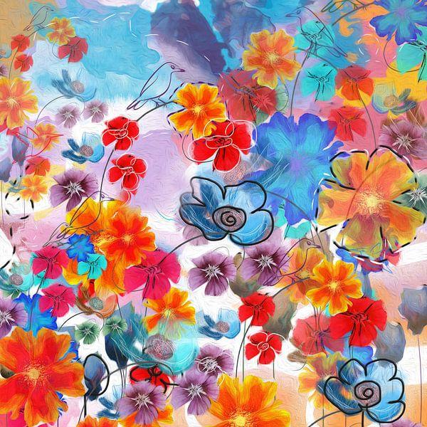 Blumen-Collage von Nicole Habets