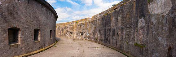 Forteiland Pampus panorama van de binnenplaats