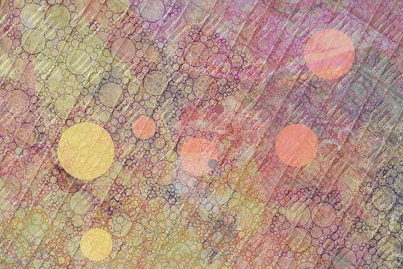 Grafisch bolletjespatroon, digitale kunst. Patroon