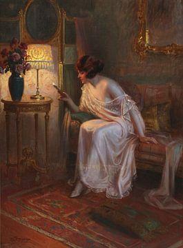 Die Eintrittskarte, Delphin Enjolras (1857-1945) von Atelier Liesjes