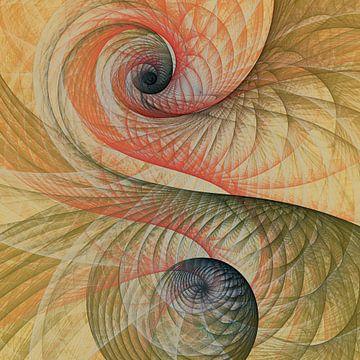 Composition abstraite 454 van Angel Estevez