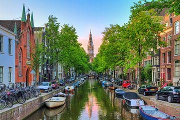Groenburgwal Amsterdam met Zuiderkerk van Dennis van de Water