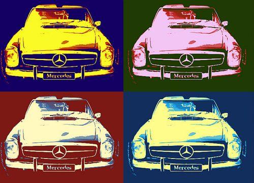 Mercedes Collage von Nicky`s Prints