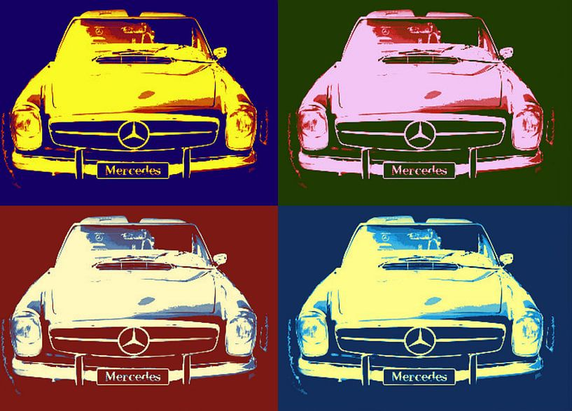 Mercedes Collage van Nicky`s Prints