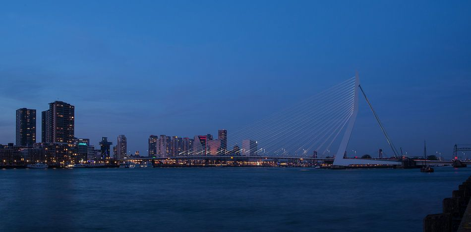 Erasmusbrug Rotterdam van Erik Veldkamp