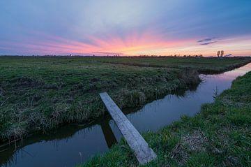 Zonsondergang bij Spaarndam von Ardi Mulder