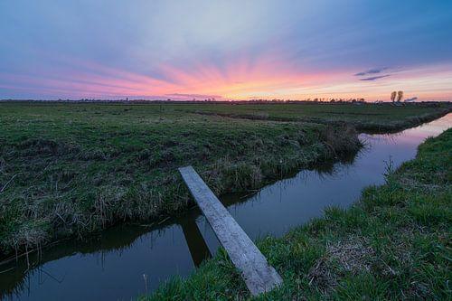 Zonsondergang bij Spaarndam