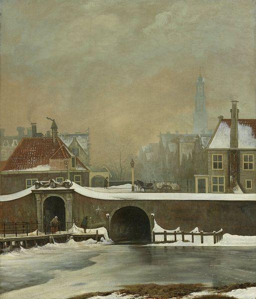 Amsterdam schilderij Het Raampoortje in Amsterdam van Schilderijen Nu