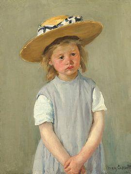 Kind mit Strohhut, Mary Cassatt - 1886