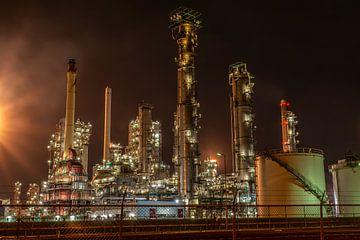 Nachtfoto in de Rotterdamse haven (2) sur Edwin Sonneveld