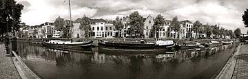 Pano Brede haven zwart/wit van Leo van Valkenburg