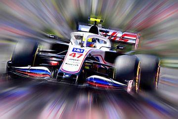 Mick Schumacher - Haas Formula One 2021 van DeVerviers