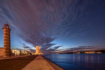 Zonsopgang in Lissabon van Achim Thomae
