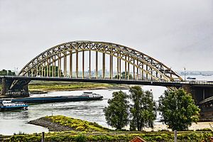 De Waalbrug bij Nijmegen (combinatie HDR en schilderij)