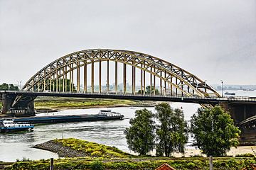 De Waalbrug bij Nijmegen (combinatie HDR en schilderij) von Art by Jeronimo