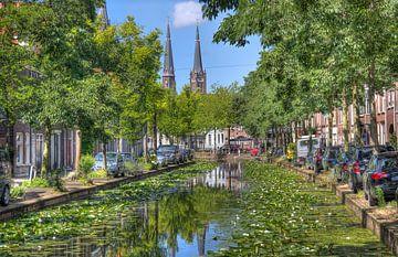 Gracht in Delft van Jan Kranendonk