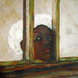 Gambiaans meisje van Ineke de Rijk