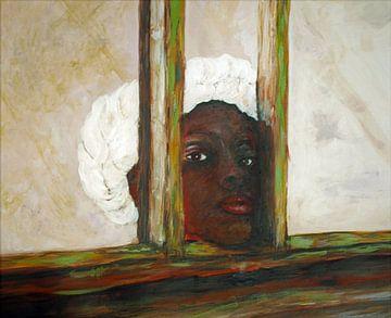 Gambianisches Mädchen von Ineke de Rijk