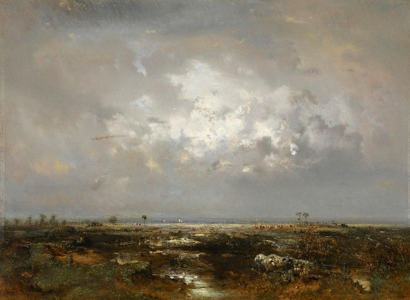 Ein Sumpf in den Landes, Théodore Rousseau von Meesterlijcke Meesters