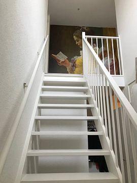 Klantfoto: Lezend meisje, Jean-Honoré Fragonard