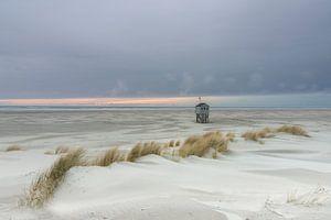 Weidse zee uitzicht Drenkelingenhuisje van