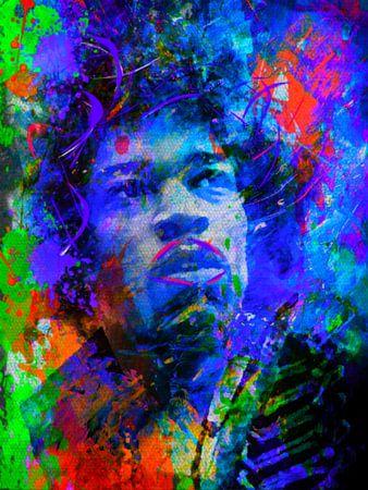 Jimi Hendrix Pop Art 1020016 van Felix von Altersheim