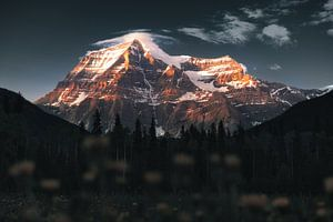 Mount Robson Canada Zonsondergang