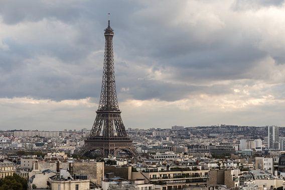 De Eiffeltoren vanaf de Arc de Triomphe van MS Fotografie | Marc van der Stelt