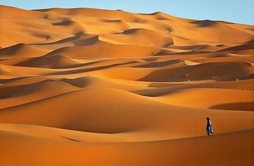 Sehr Chebbi-Wüste bei Merzouga, Marokko