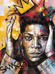 Jean Michel Basquiat schilderij. van Jos Hoppenbrouwers