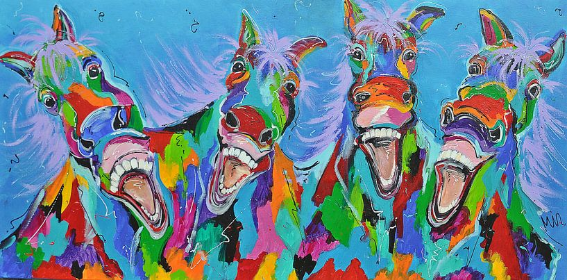-Pferde mit Humor von Kunstenares Mir Mirthe Kolkman van der Klip
