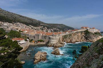 Dubrovnik met Adriatische Zee van Daan Kloeg