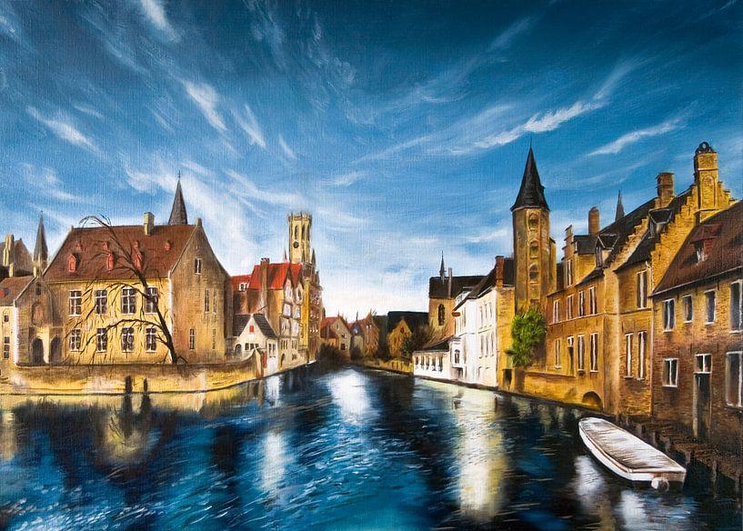 Rozenkaai Brugge België van David Berkhoff