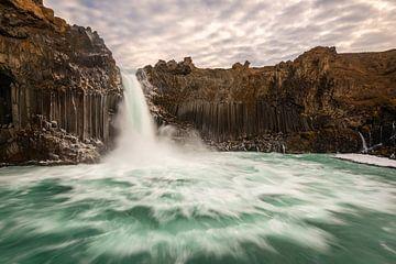Aldeyjarfoss, de basalt waterval van Noord IJsland van Gerry van Roosmalen