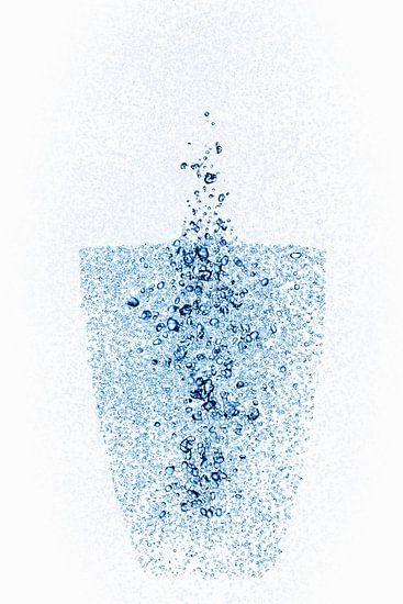 Een glas van waterdruppels