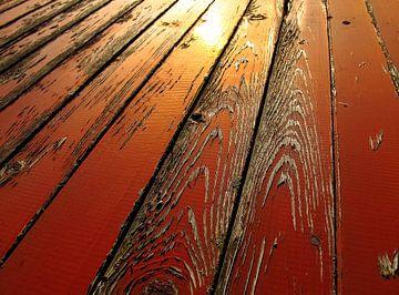 red wooden textures van Danny Kölker