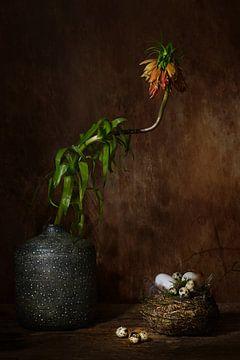 Nature morte avec mon mimosa préféré. sur Saskia Dingemans