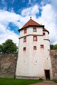 Gevangentoren op kasteel Wilhelmsburg in Schmalkalden van Heiko Kueverling