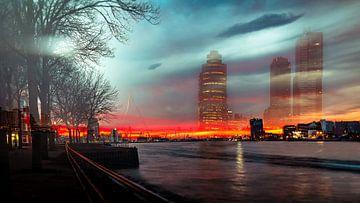 Speciale Skyline Rotterdam van Lesley Gudders